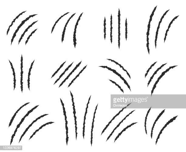 爪はベクトルセットを傷つける - 掻く点のイラスト素材/クリップアート素材/マンガ素材/アイコン素材