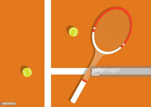 clay tennis court - tennis stock illustrations