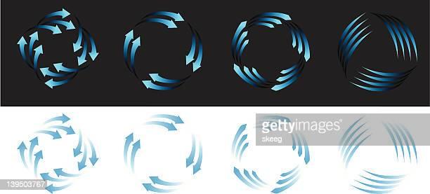 Clean Air Wind Power Icons