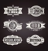 Clean and distressed retro vector grunge banners, seals and medallions