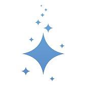 clean blue stars icon