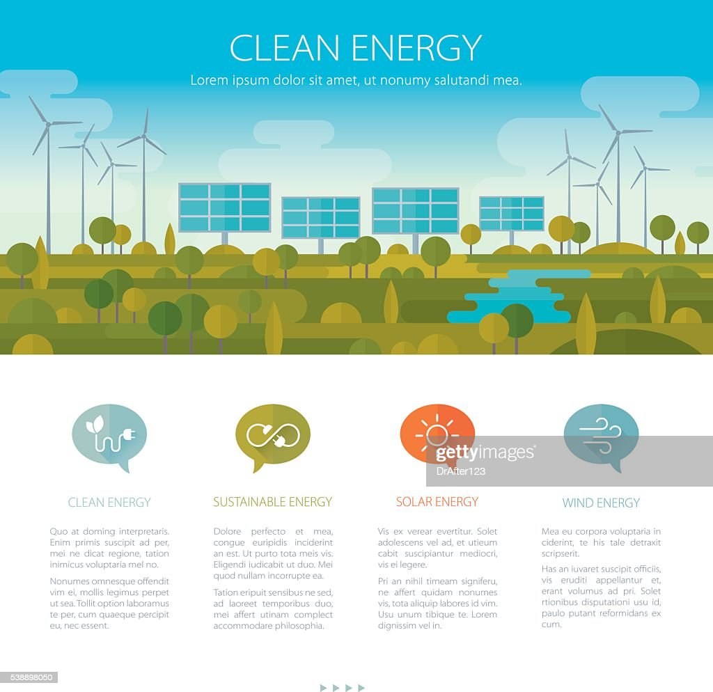 Clean Energy Concept : Illustrationer