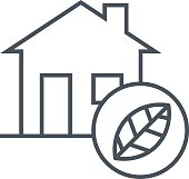 Clean energy house icon