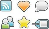 clean icons: social media
