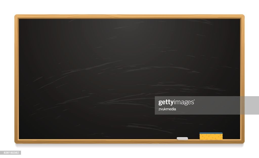 Clean school board with chalk and sponge