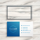 clean simple blue business card template vector design illustration