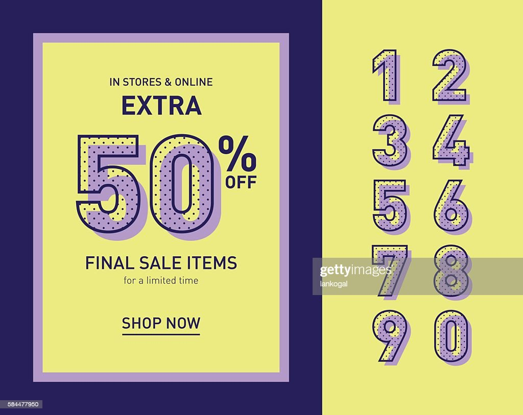Clean trendy sale banner template. Flat vector.