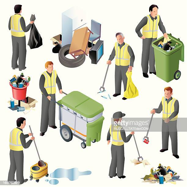 clean up crew iso - waistcoat stock illustrations, clip art, cartoons, & icons