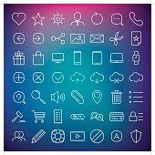 clean web icon set