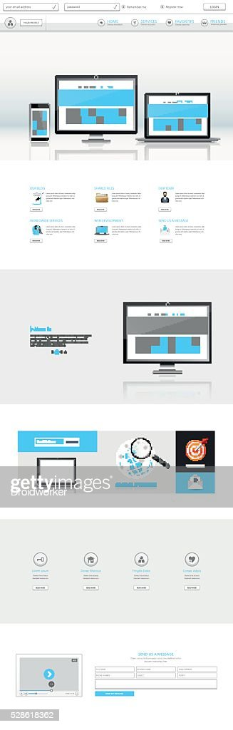 Clean White Corporate One Page Website Template Design
