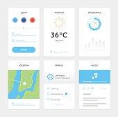 Clean White Mobile Web UI Kit