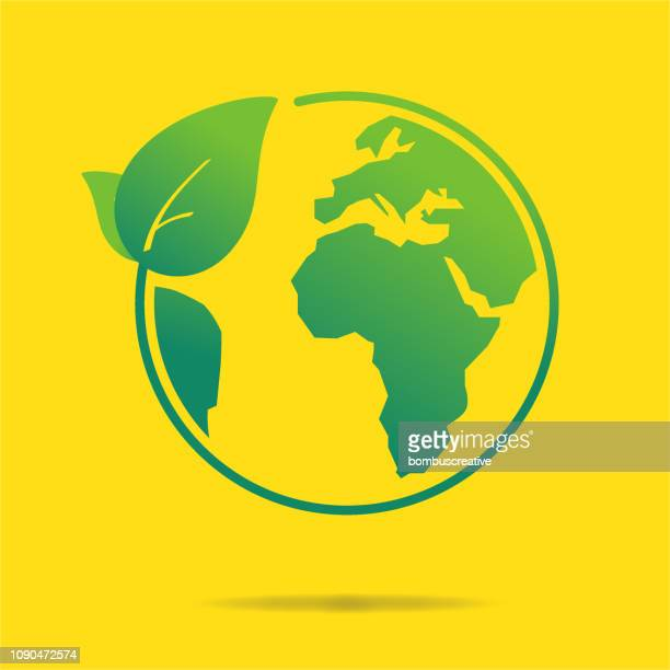 clean world icon - planet earth stock illustrations