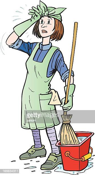 cleaner - scavenging stock illustrations