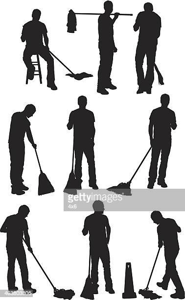 cleaner - housework stock illustrations, clip art, cartoons, & icons