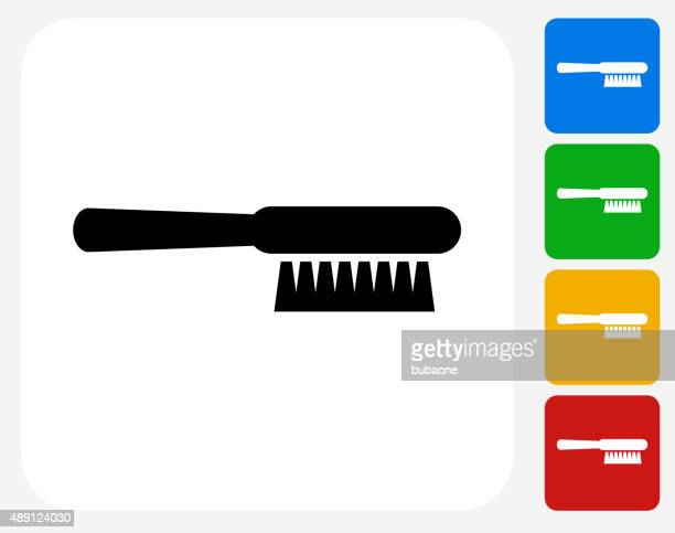 cleaning brush icon flat graphic design - toilet brush stock illustrations, clip art, cartoons, & icons