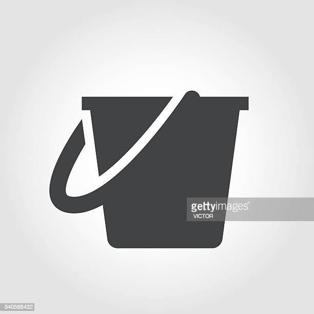 illustrations, cliparts, dessins animés et icônes de seau de nettoyage icônes-série emblématique - seau