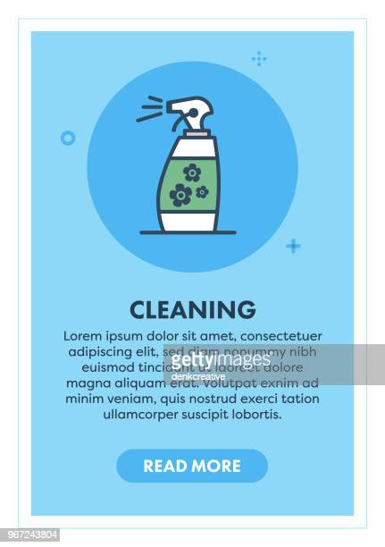 cleaning concept banner - housework stock illustrations, clip art, cartoons, & icons