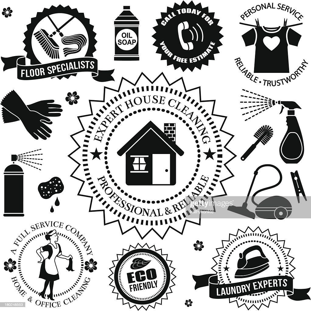 cleaning design elements : stock illustration