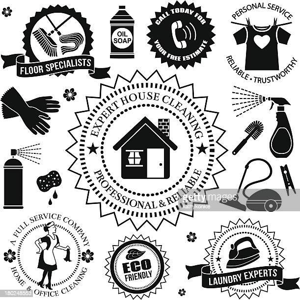 cleaning design elements - washing up glove stock illustrations, clip art, cartoons, & icons