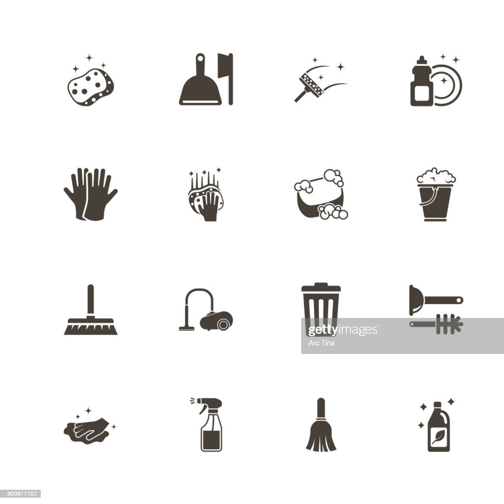 Cleaning - Flat Vector Icons