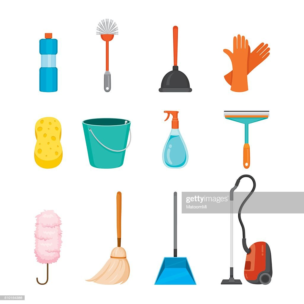 Cleaning, Home Appliances Icons Set