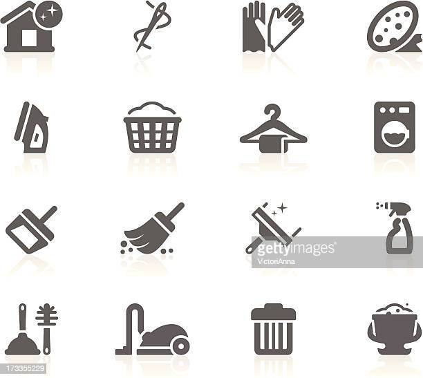 cleaning & housework_gracy series_23 - iron appliance stock illustrations, clip art, cartoons, & icons