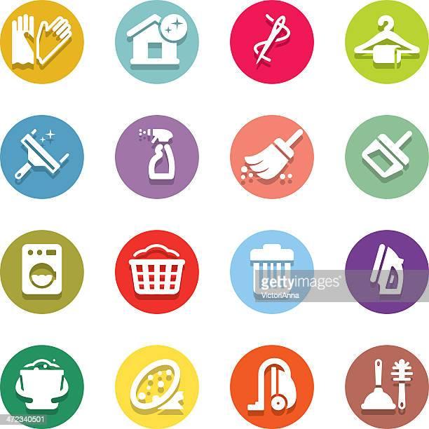 クリーニング&housework_motley series_23 - 清掃用具点のイラスト素材/クリップアート素材/マンガ素材/アイコン素材