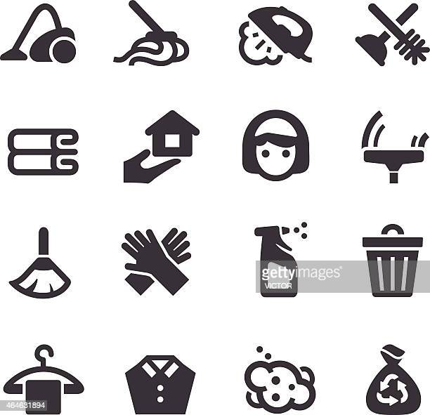 cleaning icons - acme series - washing hands stock illustrations
