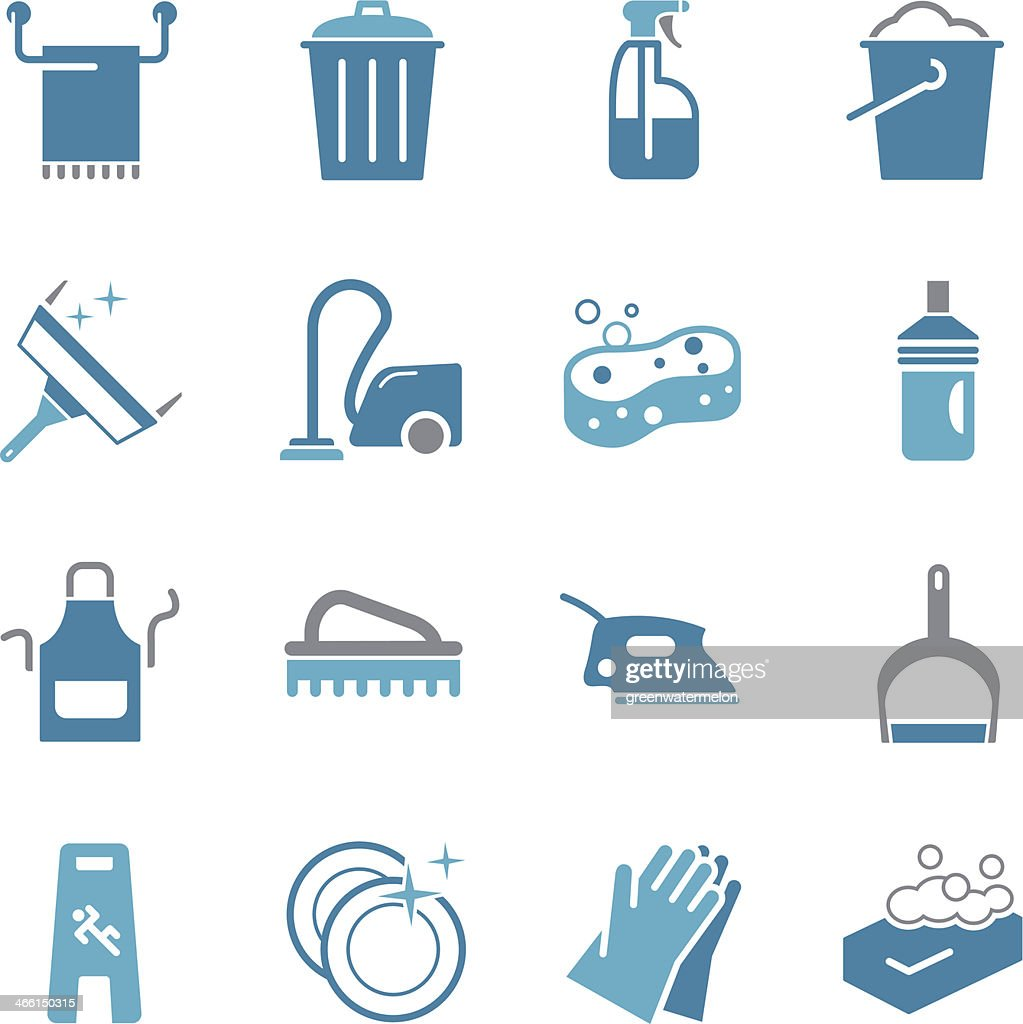 Cleaning Icons - Color