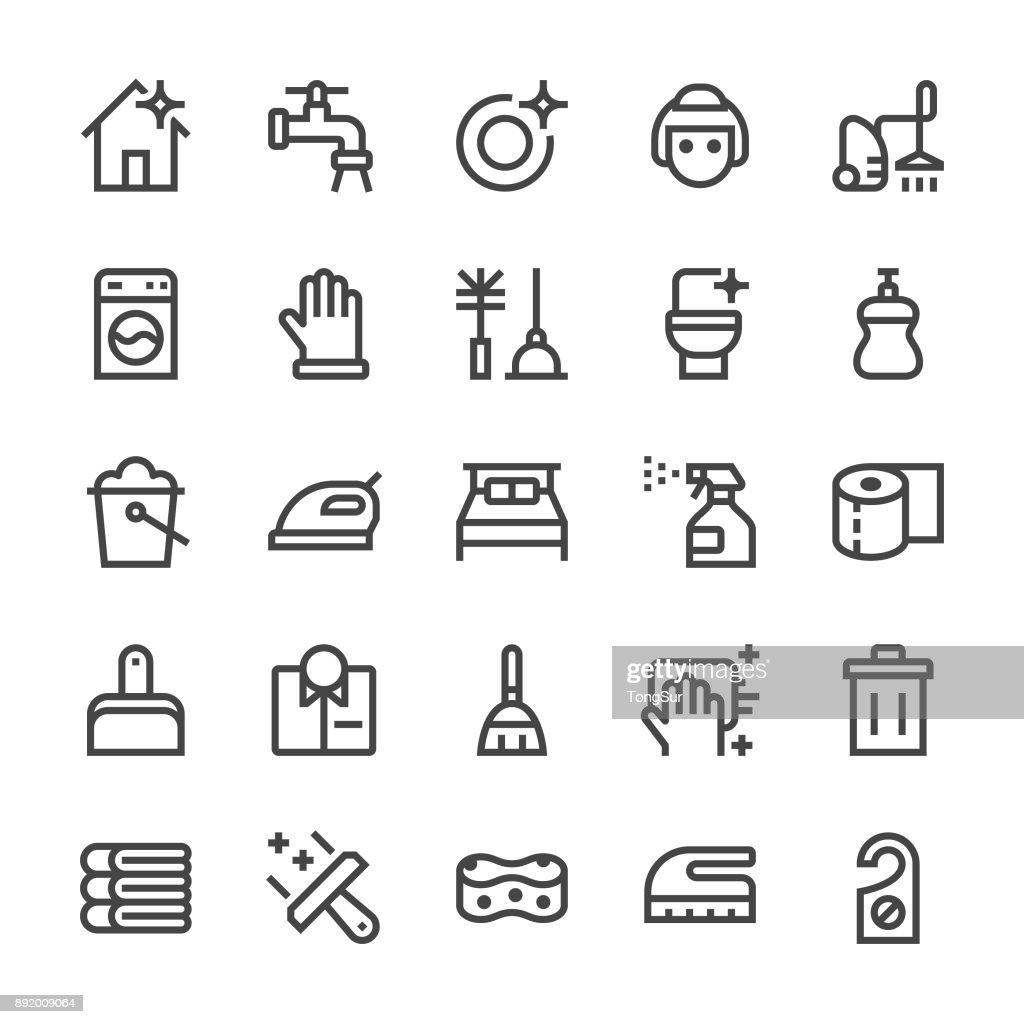 Cleaning Icons - MediumX Line : stock illustration