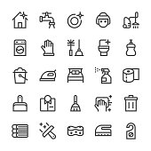 Cleaning Icons - MediumX Line