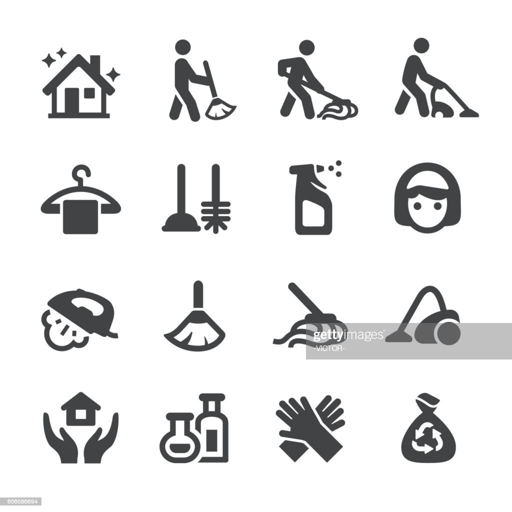 Cleaning Icons Set - Acme Series