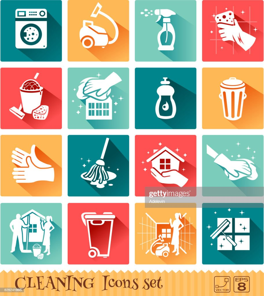 Cleaning Icons Set : stock illustration