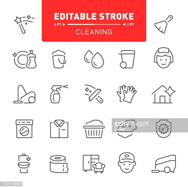 cleaning icons - iron appliance stock illustrations, clip art, cartoons, & icons