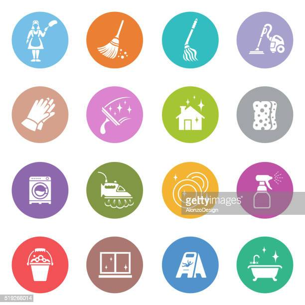 cleaning icons - plunger stock illustrations, clip art, cartoons, & icons