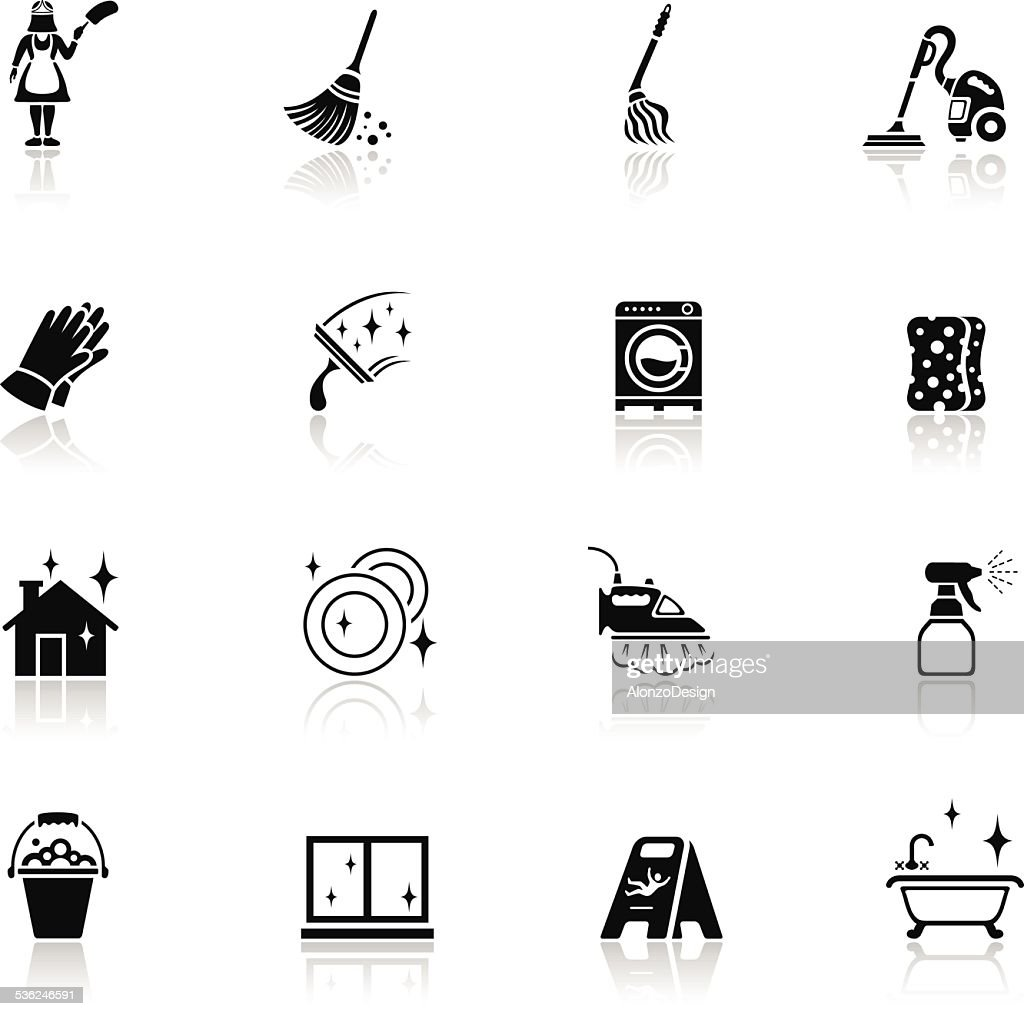 Cleaning Icons : stock illustration