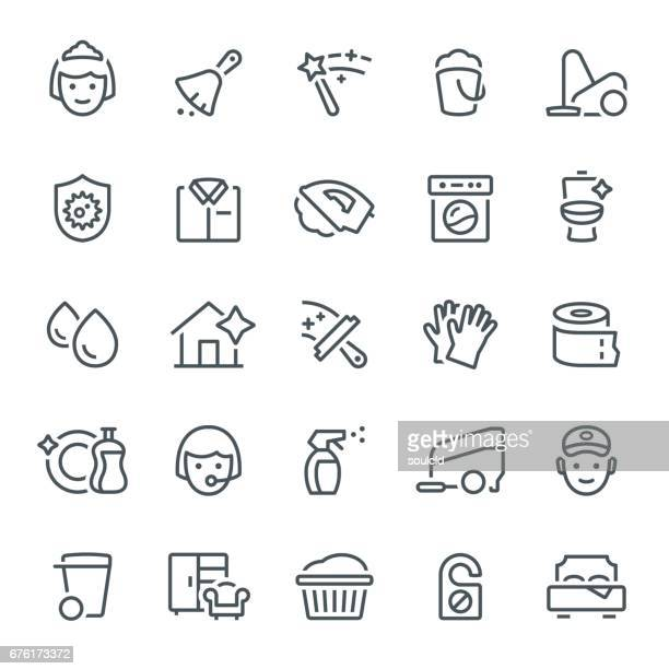 cleaning icons - washing up glove stock illustrations, clip art, cartoons, & icons
