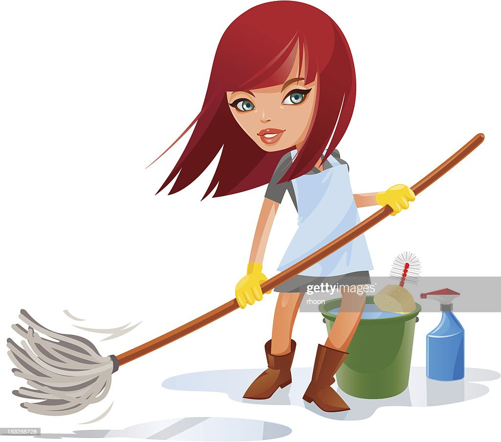 house cleaner cleaning lady cartoon character. the cleaning lady cs ...