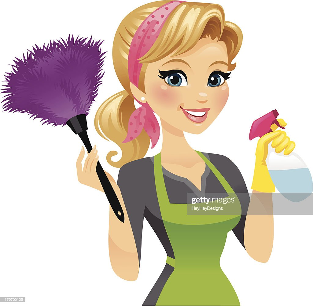 cleaning lady vector art getty images house cleaning clip art free house cleaning lady clipart