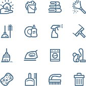 Cleaning Line icons