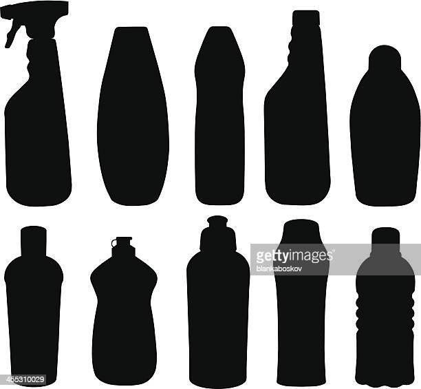 Reinigungsmittel Flaschen
