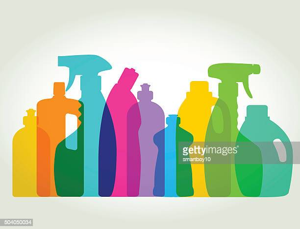 cleaning products - manufactured object stock illustrations
