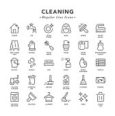 Cleaning - Regular Line Icons