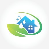 Cleaning Service Business design, Eco Friendly Concept for Interior, Home and Building