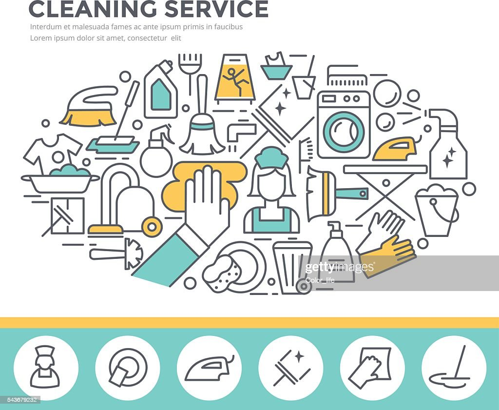 Cleaning service concept illustration.