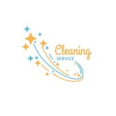 Cleaning service. Vector illustration