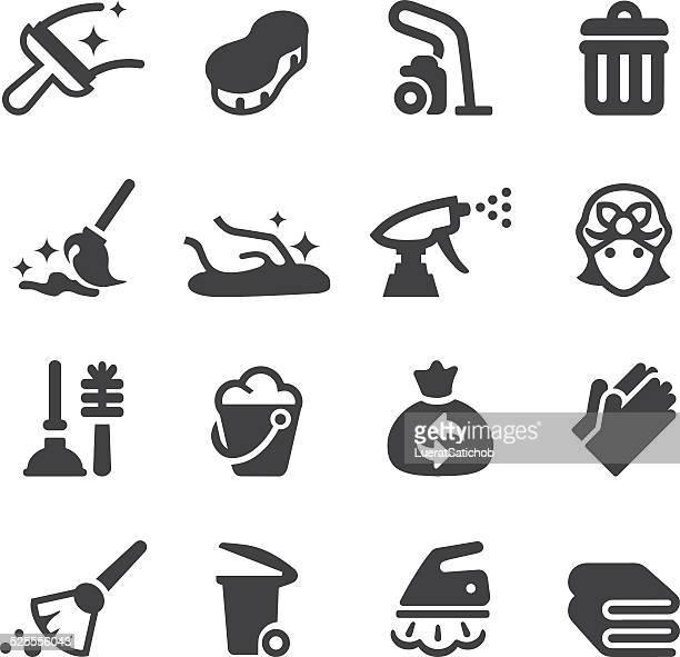 Silhouette de nettoyage icônes EPS10 /
