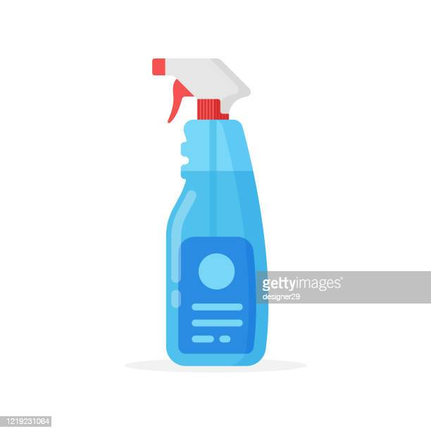 cleaning spray bottle icon. cleaning and hygiene concept vector design. - sprinkler stock illustrations