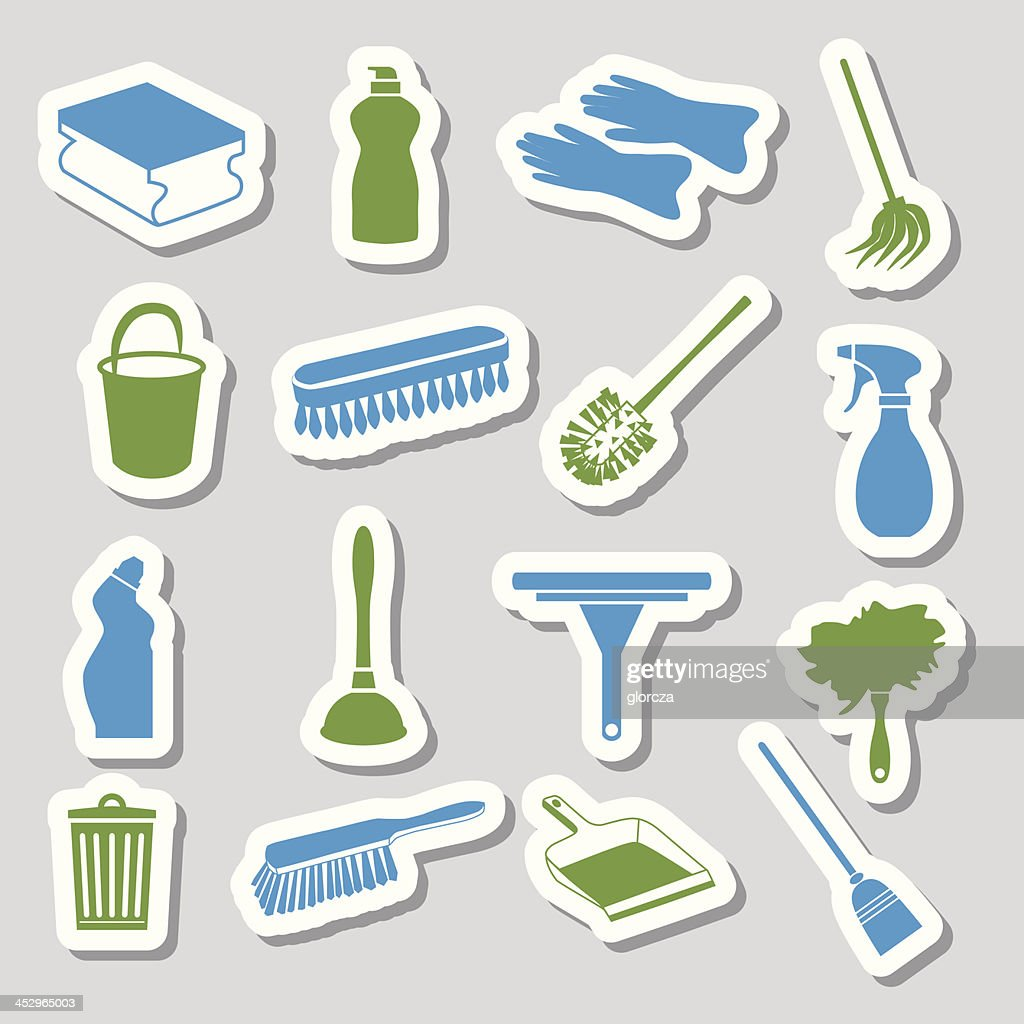 cleaning stickers