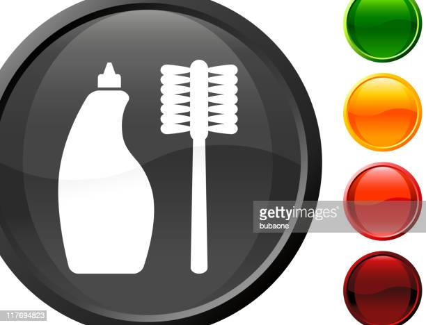 cleaning supplies internet royalty free vector art - toilet brush stock illustrations, clip art, cartoons, & icons